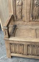 French Gothic Oak Hall Bench (2 of 8)