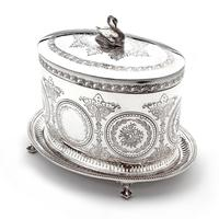 Victorian Henry Wilkinson Oval Silver Plated Biscuit Box (2 of 6)