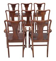 Set of 8 Inlaid Mahogany Dining Chairs Art Nouveau c.1910 (2 of 10)