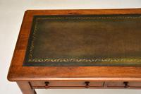 Antique Victorian Walnut Leather Top Writing Table / Desk (5 of 10)