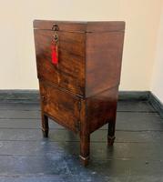 Rare & Fine 18th Century George III Figured Mahogany Drinks Decanter Bottle Cabinet (3 of 16)