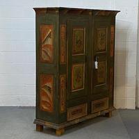 Beautiful Antique Pine Painted Wardrobe - Dismantles (5 of 7)