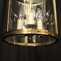 French Gilded Brass Triple Light Antique Lantern (9 of 10)