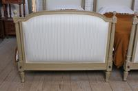 Pretty Pair of Matching French Newly Upholstered Single Beds (2 of 8)