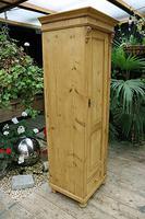 Gorgeous Old Stripped Pine Cupboard / Cabinet / Wardrobe - Hall / Linen / Larder (3 of 11)