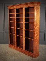 Large Triple Satinwood Open Bookcase (4 of 7)