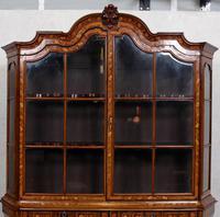Dutch Bombe Bookcase Vitrine Display Cabinet on Chest Glazed (10 of 17)