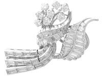 5.90ct Diamond & Platinum Tassel Earrings - Vintage c.1950 (3 of 9)