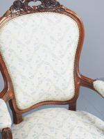 Antique Pair of French Rosewood Armchairs (9 of 19)