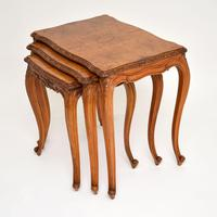 French Burr Walnut Nest of Tables (3 of 9)