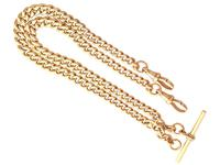 9ct Yellow Gold Double Albert Watch Chain - 1925 (3 of 12)