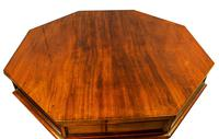19th Century Mahogany Library Table. Drum or Rent Table (3 of 9)