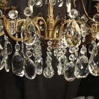 Italian 8 Light Gilded Bronze Antique Chandelier (9 of 10)