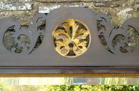 Good Large Georgian Mahogany Fretwork Gilt Mirror (4 of 7)
