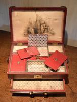 Fine Regency Leather Work Box (10 of 14)