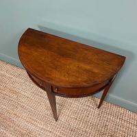 Elegant Demi Lune Tambour Front Antique Side Table (5 of 6)
