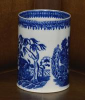 Late 19th Century Pearlware Cider Mug Decorated With Blue and White Chinoiserie (2 of 7)