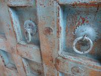 Handmade Indian Mango & Teak Large Painted Sky Blue 2 Door Storage Cupboard (9 of 13)