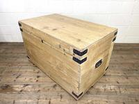 Antique Large Rustic Pine Trunk (7 of 10)