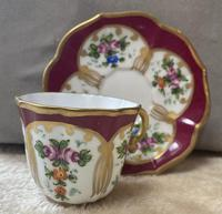 Limoges, France Hand Painted Cup & Saucer (2 of 6)