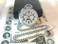Vintage Pocket Watch 1970s Railroad 9ct White Gold Plated Swiss & West Germany Nos (7 of 12)