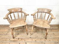 Pair of Antique Smoker's Bow Chairs (3 of 10)