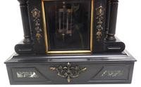 Fine Antique French Slate & Marble Regulator Mantel Clock 8 Day Striking Mantle Clock with Visible Jewelled Escapement (3 of 12)