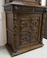 Pair of French Carved Gothic Oak Bookcases (8 of 12)