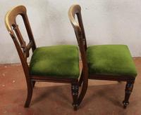 1910's Pair of Occasional Mahogany Chairs in Green (3 of 3)