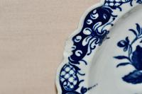 """18th Century Worcester Porcelain Scallop-edge Shallow Dish """"Pine-cone Group"""" (6 of 7)"""