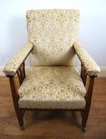 Edwardian Art Nouveau Inlaid Armchair (2 of 8)