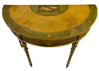 Painted George III Style Demi Lune Pier Table c1880 (3 of 8)