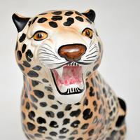 1970's Large Vintage Porcelain Leopard Sculpture (4 of 11)