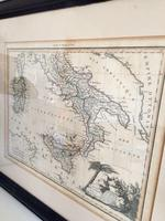Antique Framed Map of Italy, Engraving By J B Tardieu after Giraldon (6 of 9)