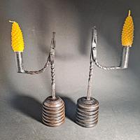 Pair of 19th Century Iron Rushlights (2 of 5)