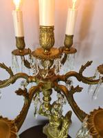 Tall Seven Branch Italian Candelabra Table Lamp c1930 (5 of 7)