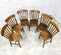 Matched Set of Six Victorian Windsor Lathback Chairs (4 of 8)