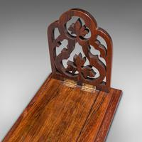 Antique Book Slide, English, Rosewood, Mahogany, Library Stand, Victorian c.1900 (10 of 12)