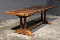 Wonderful French Chestnut Farmhouse Refectory Dining Table (18 of 37)