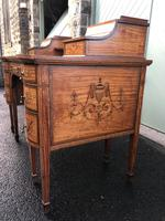 Inlaid Satinwood Carlton House Desk By Maple & Co (13 of 16)