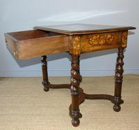 Good Dutch Marquetry Walnut & Kingwood Inlaid Table (7 of 11)