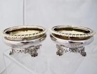 Beautiful Pair of George IV Silver Salts Rebecca Emes & Edward Barnard London 1821 (2 of 6)