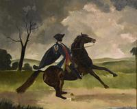 "Oil Painting Doris Zinkeisen ""Dick Turpin"" (2 of 5)"