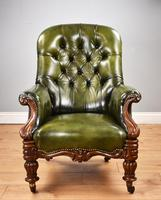 William IV Hand Dyed Leather Armchair (2 of 12)