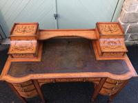 Inlaid Satinwood Carlton House Desk By Maple & Co (4 of 16)