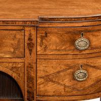George III breakfront yew-wood inlaid mahogany sideboard (9 of 10)