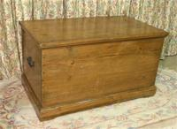 Victorian Stripped Pine Blanket Box with Lots of Storage (2 of 8)