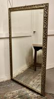Large 20th Century Arts & Crafts Style Pewter Finish Wall Mirror (2 of 8)