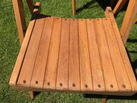 Antique Set of 8 Folding Beech Chairs (3 of 9)