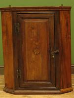 Antique Georgian Elm Corner Cabinet of Modest Proportions & Lovely Character (2 of 13)